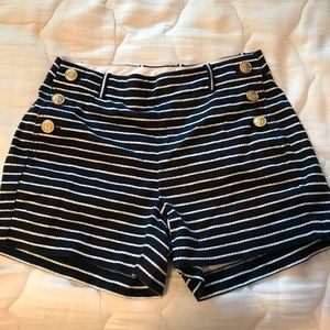 JCrew Shorts- stripped blue and white with bottons